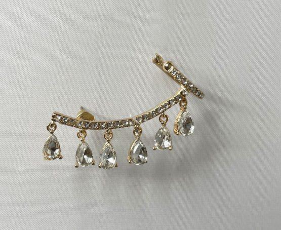 ear cuff with crystals